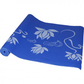 Maha Blue Lotus Yoga Mat & Carrying Strap