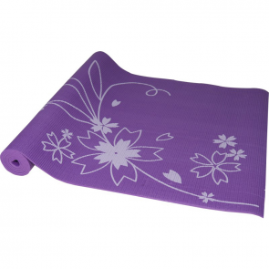 Maha Purple Floral Yoga Mat & Carrying Strap